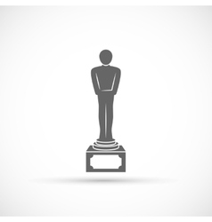 Movie award icon vector image