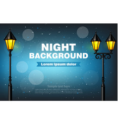 night background lamps realistic 3d vector image