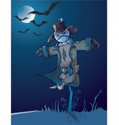 night scarecrow vector image