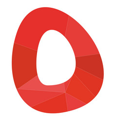 O red alphabet letter isolated on white background vector