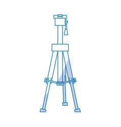 Professional photographic tripod vector