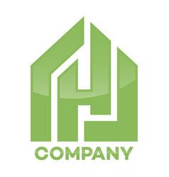 Real estate and h letter logo vector