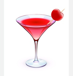 red cocktail vector image