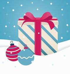 Retro Christmas gift vector image