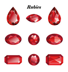 Rubies set isolated vector