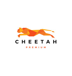 running cheetah tech geometric logo icon vector image