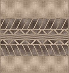 seamless brown tire track knitting vector image