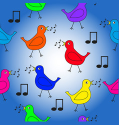 seamless texture on a musical theme vector image