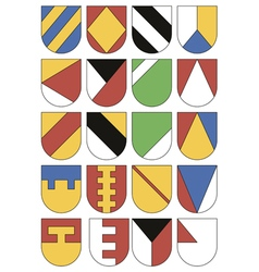 Set of colorful templates for coats of arms vector image vector image