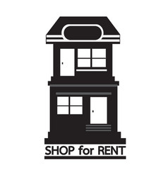 shop for rent icon design vector image