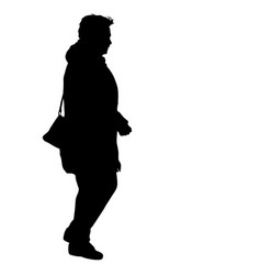 silhouette of people walking on white background vector image