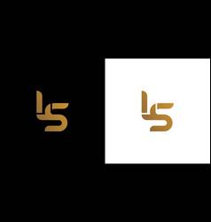 Simple and attractive ls logo design vector