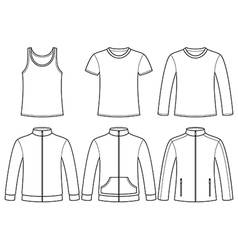 Singlet T-shirt Long-sleeved T-shirt Sweatshirts a vector image
