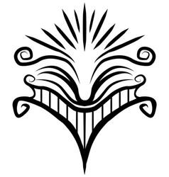 smile face stylized decorative stencil vector image