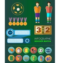 Soccer Match Infograpfics vector image