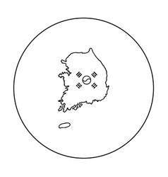 South korea icon in outline style isolated on vector