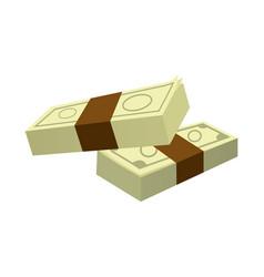Stack money banknote dollar cash icon vector