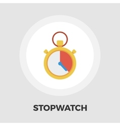 Stopwatch icon flat vector image