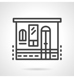Storefronts simple line icon Grocery vector