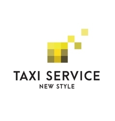 Taxi Service Logos sign Abstract geometrical vector image