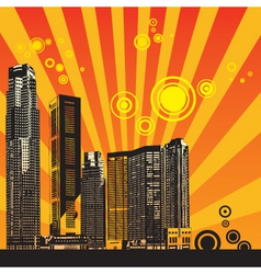 urban city illustration vector image