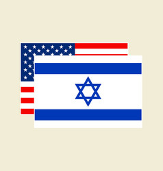 usa and israel flags set vector image