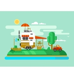 Vacation trailer vector image
