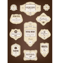 vintage tree label vector image