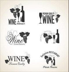 wine labels collection 2 vector image