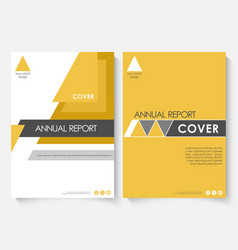 Yellow marketing cover design template for annual vector
