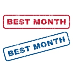 Best Month Rubber Stamps vector image vector image