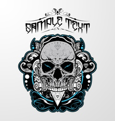 Decorative Skull vector image vector image