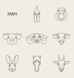 farm animals with sample vector image vector image