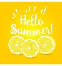 Hello Summer lemon vector image
