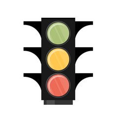 traffic light single flat icon on white vector image vector image