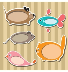 animal frames vector image