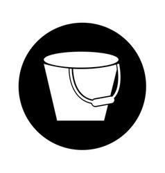metal bucket isolated icon vector image