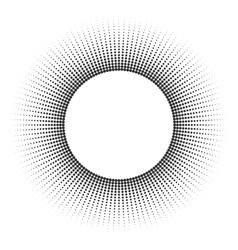 Round banner of pixels vector image