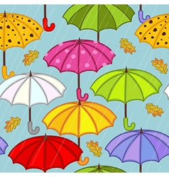 seamless pattern with umbrella vector image