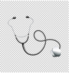 stethoscope on transparent background vector image vector image