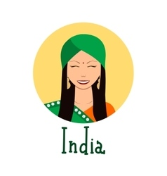 Young woman face avatar Cute indian girl in vector image vector image