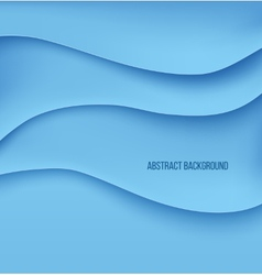 Abstract blue paper layers background shadow vector image