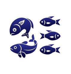 fish symbols vector image vector image