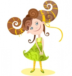 girl Aries vector image vector image