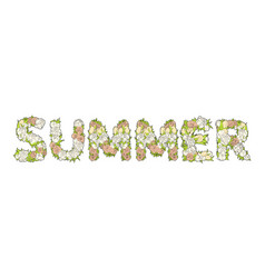 inscription summer from flowers vector image
