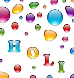 Multicolored Drops for Indian Festival Holi vector image