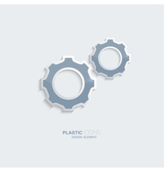 Plastic icon setting symbol vector image vector image
