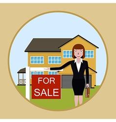 Real estate broker cottage for sale vector image