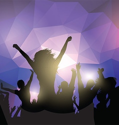 Silhouette of a party crowd vector