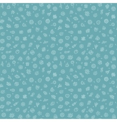 Blue Seamless Pattern with Bacteria and Germs vector image vector image